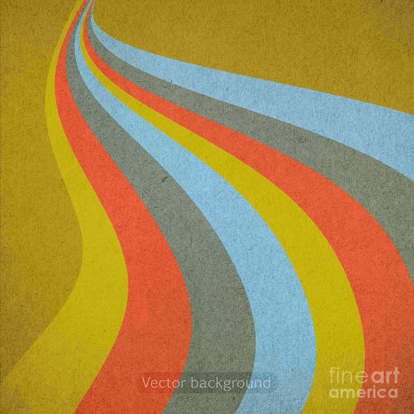 Wall Art - Digital Art - Grunge Retro Vector Background by Leksustuss