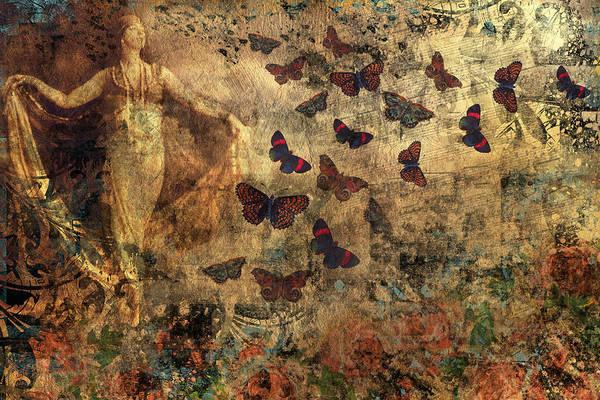 Digital Art - Grunge Vintage Collage - The Dancer by Peggy Collins