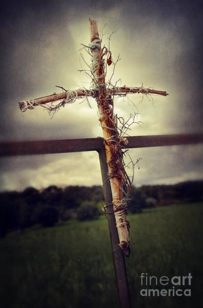 Holy Spirit Photograph - Grungy Cross by Carlos Caetano