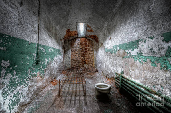 D800 Photograph - Grungy Prison Cell by Michael Ver Sprill