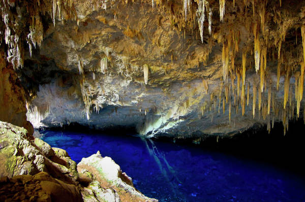 Grottos Photograph - Gruta Lagoa Azul - Bonito - Ms - Brazil by Kemy Ikeda