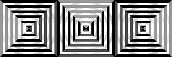 Grayscale Digital Art - Gs Squares Panoramic by Mike McGlothlen