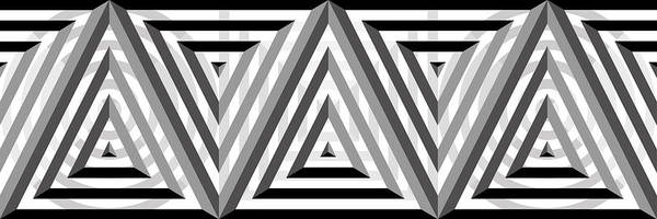 Grayscale Digital Art - Gs Triangles Panoramic by Mike McGlothlen