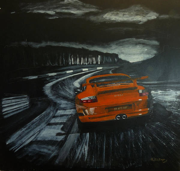 Painting - Gt3 @ Le Mans #2 by Richard Le Page