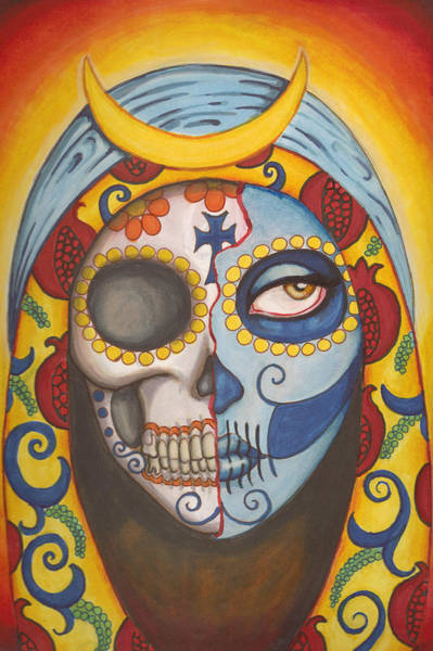 Wall Art - Painting - Guadalupe by Shayne of the  Dead