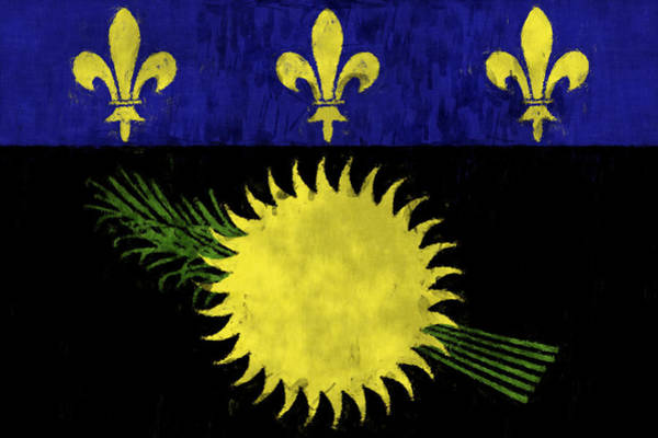 Wall Art - Digital Art - Guadeloupe Flag by World Art Prints And Designs
