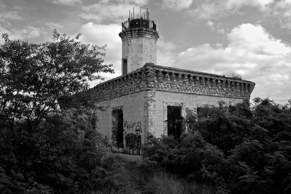 Photograph - Guanica Lighthouse B W 1 by Ricardo J Ruiz de Porras