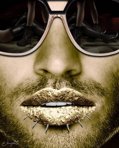 Lip Piercing Wall Art - Digital Art - Guapo by Jan Raphael
