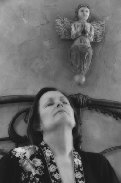 Photograph - Guardian Angel Bw by Ron White