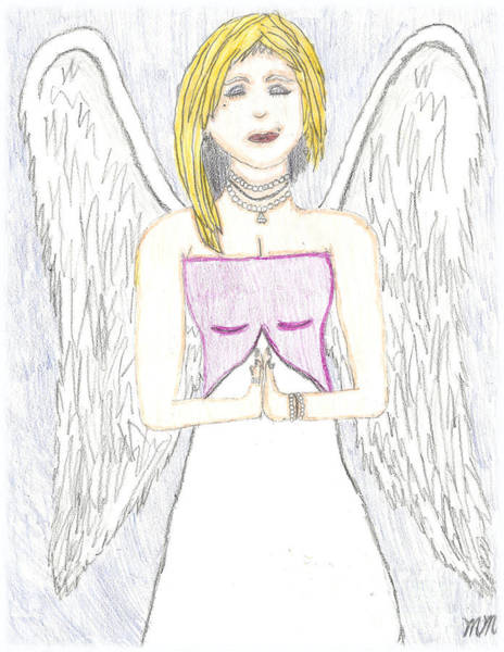 Drawing - Guardian Angel by Marissa McAlister