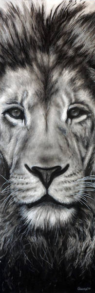 Charcoal Drawing - Guardian by Courtney Kenny Porto
