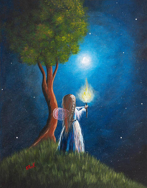 Wall Art - Painting - Guardian Of Light By Shawna Erback by Erback Art