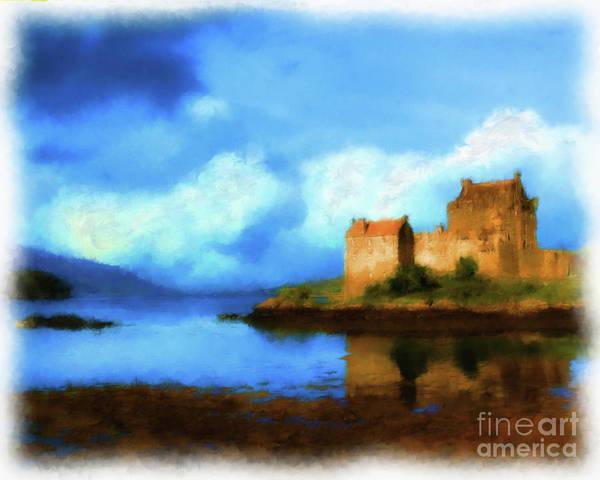 Eilean Donan Castle Digital Art - Guardian Of The Loch by Diane Macdonald