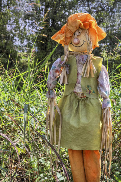 Photograph - Guardian Of The Pumpkins - Autumn - Scarecrow by Jason Politte