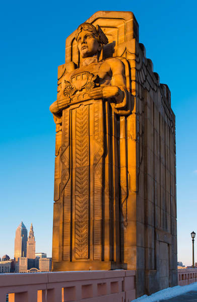 Photograph - Guardian Towering Over Cleveland by Clint Buhler