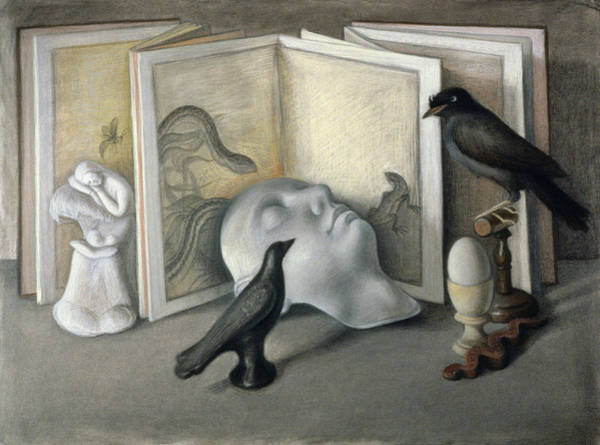 Wall Art - Photograph - Guardians Of Sleep Chalk, Conte And Pastel On Paper by Tomar Levine