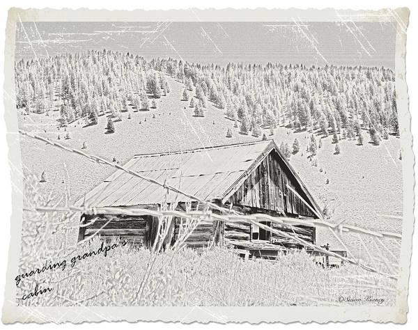 Photograph - Guarding Grandpa's Cabin by Susan Kinney