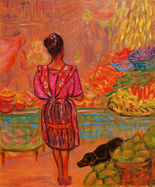 Painting - Guatemala Impression Vi by Xueling Zou