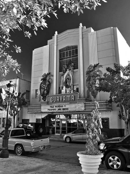 Photograph - Guayama Movie Theater B W by Ricardo J Ruiz de Porras