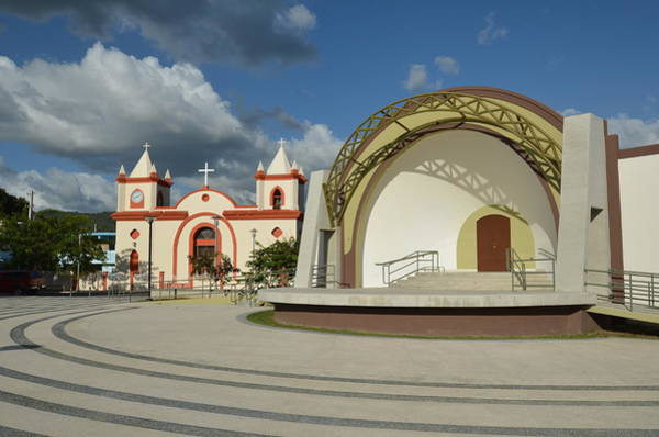 Photograph - Guayanilla Plaza And Church II by Ricardo J Ruiz de Porras