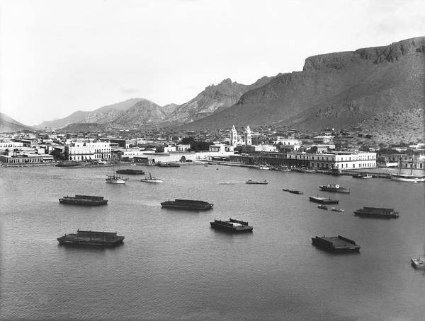 Sea Of Cortez Photograph - Guaymas Harbor by Underwood Archives
