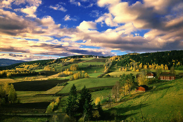 Lillehammer Photograph - Gudbrandsdalen Valley Near Lillehammer by Per-Andre Hoffmann