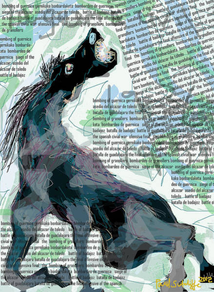 Digital Art - Guernica Horse by Paul Sutcliffe