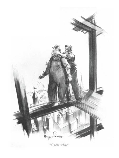 Skyscrapers Drawing - Guess Who by Kemp Starrett