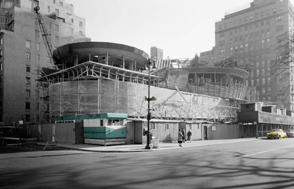 Photograph - Guggenheim Construction by Andrew Fare