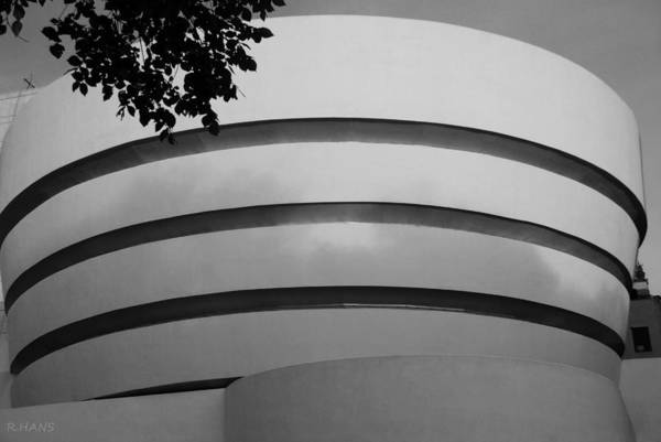 Photograph - Guggenheim In The Round In Black And White by Rob Hans