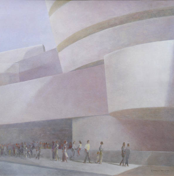 Exterior Painting - Guggenheim Museum New York 2004 by Lincoln Seligman