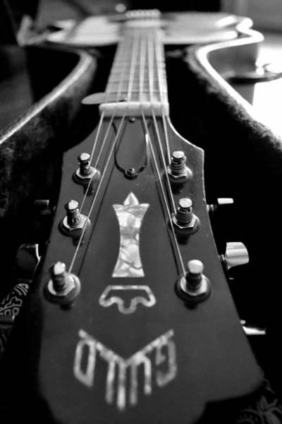 Guitar Neck Photograph - Guild by Michelle Calkins