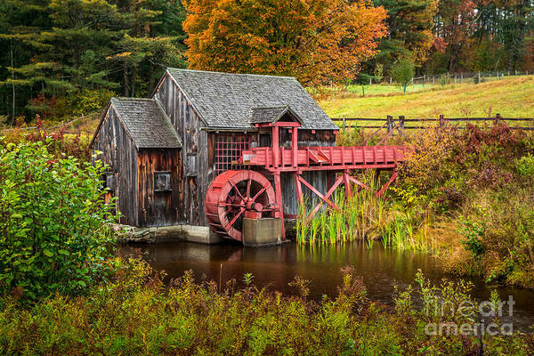 Photograph - Guildhall Gristmill by Susan Cole Kelly