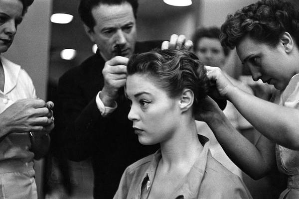 Photograph - Guillaume Working On A Model's Hair by Constantin Joffe