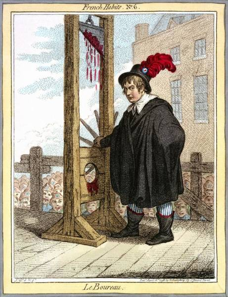 Photograph - Guillotine Caricature, 1798 by Science Photo Library