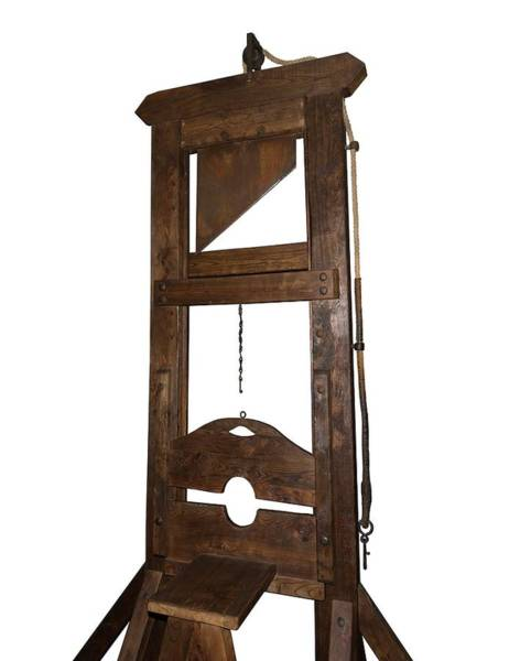 Beheaded Wall Art - Photograph - Guillotine From Spain by David Parker