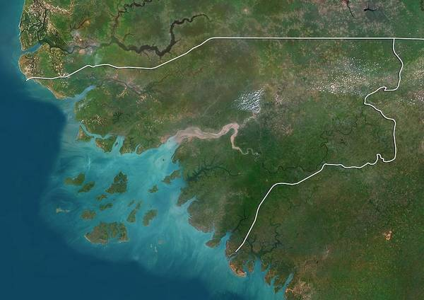 Landsat 7 Wall Art - Photograph - Guinea-bissau by Planetobserver/science Photo Library