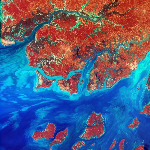 Digital Art - Guinea Bissau by USGS Landsat