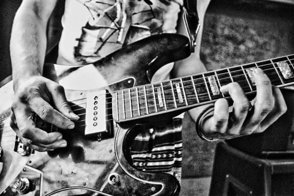Blacklight Photograph - Guitar  by Vladan Radulovic