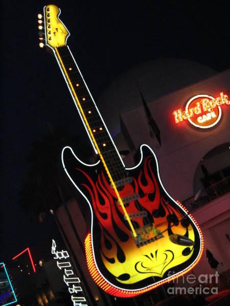 Photograph - Guitar By Night by Vivian Martin