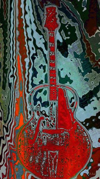 Digital Art - Guitar Heat by Alec Drake