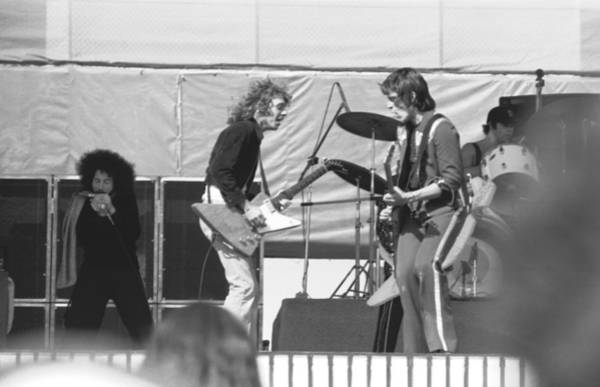 Photograph - Guitar Interplay At The Day On The Green 6-6-76 by Ben Upham