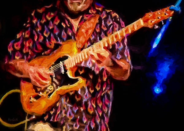 Jazz-funk Painting - Guitar Man by Bob Orsillo