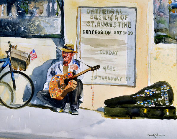 Painting -  Da192 Guitar Man By Daniel Adams by Daniel Adams