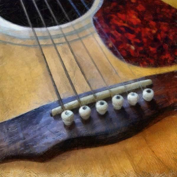 Photograph - Guitar by Michelle Calkins
