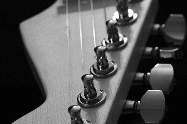Photograph - Black And White Guitar by Mike Murdock