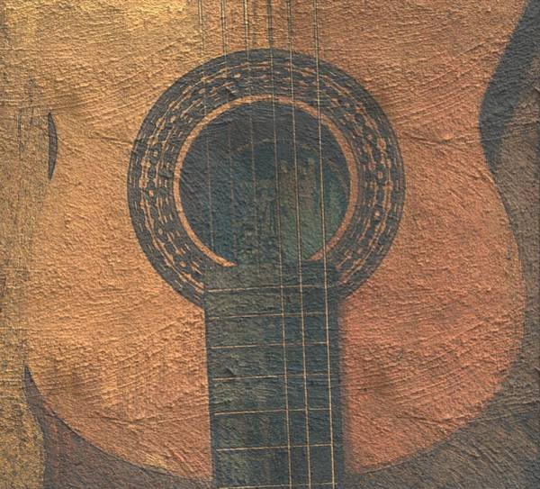 Photograph - Guitar On Paper by Abbie Shores