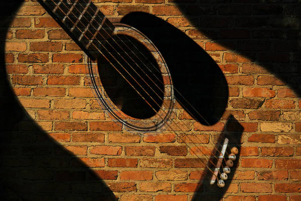 Guitar Shadow Art Print