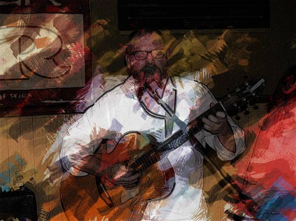 Guitar Singer Art Print