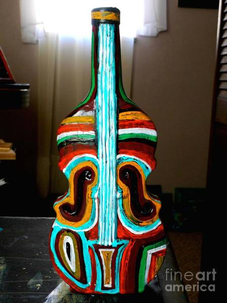 Utilitarian Painting - Guitar Vase by Genevieve Esson